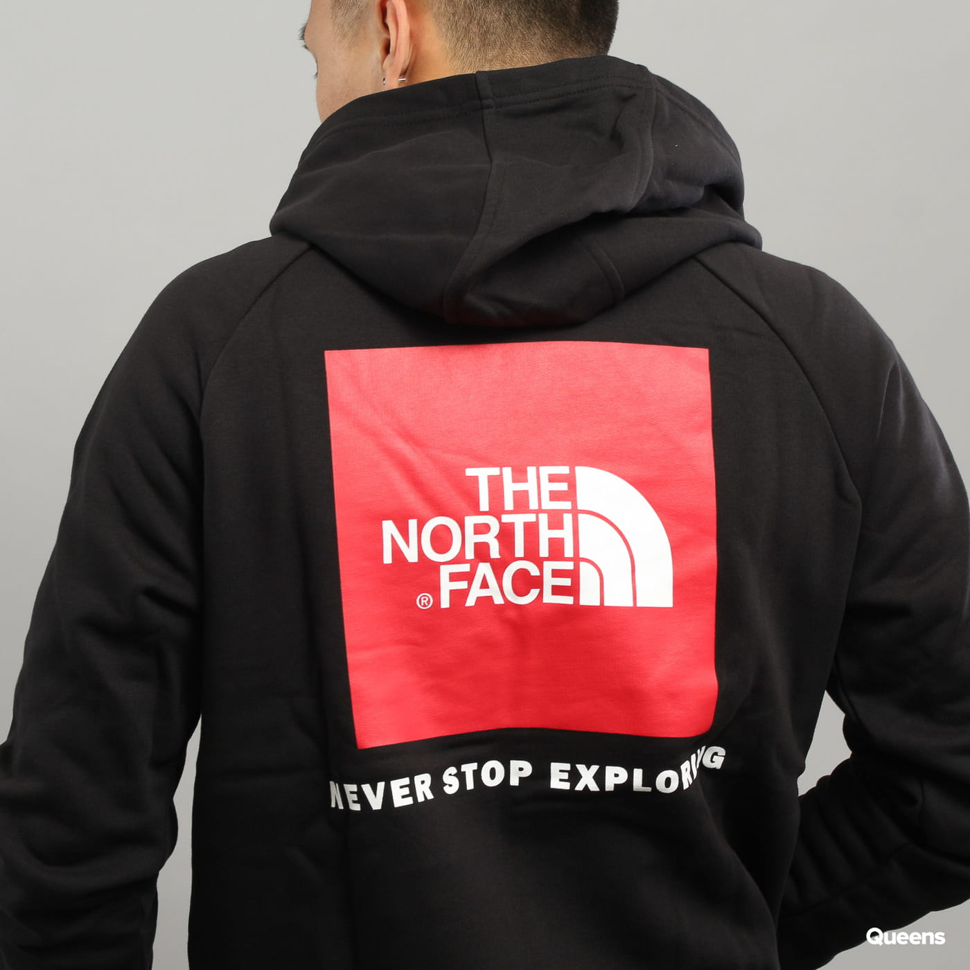 The North Face M Raglan Red Box Hoodie black