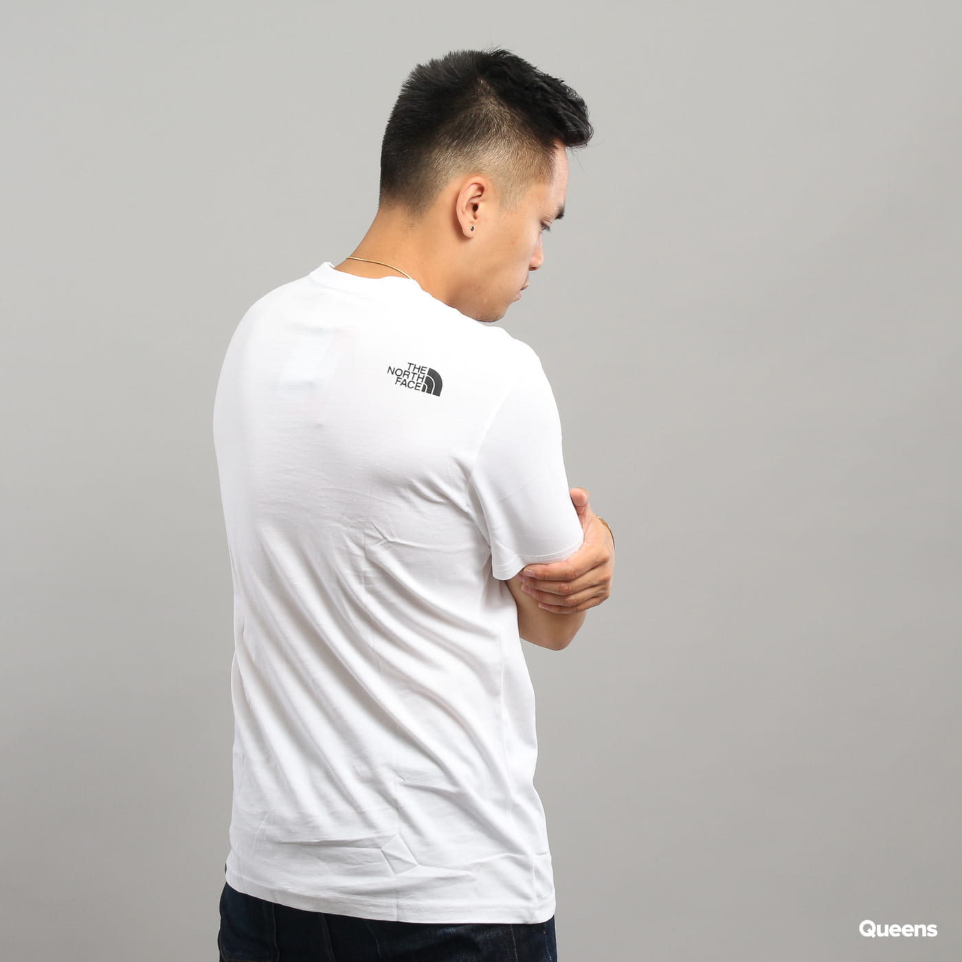 The North Face M S/S Fine Tee biele