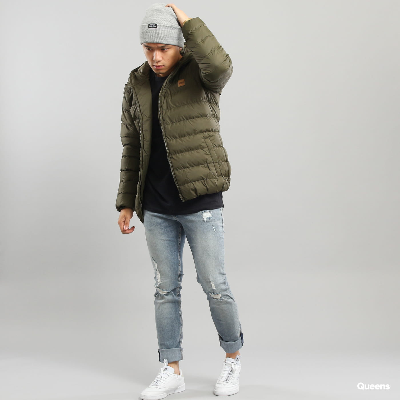 Urban Classics Basic Bubble Jacket dunkeloliv