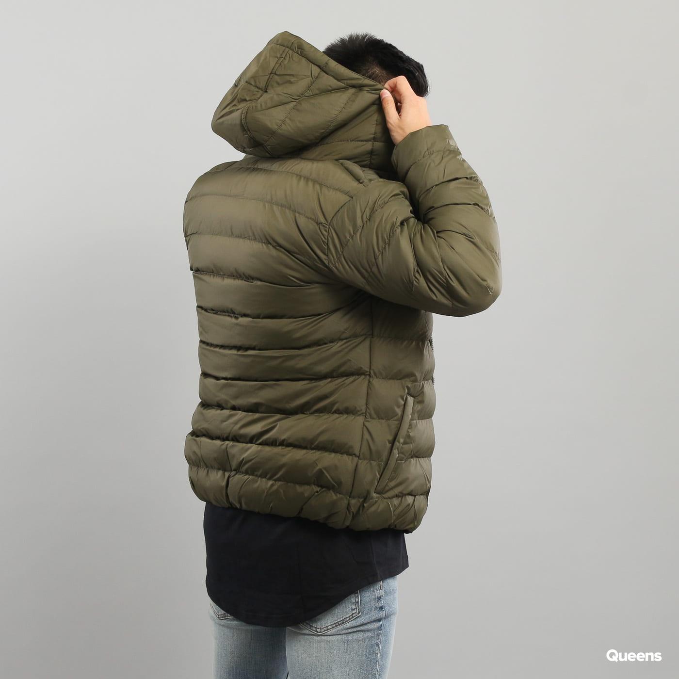 Urban Classics Basic Bubble Jacket tmavo olivová