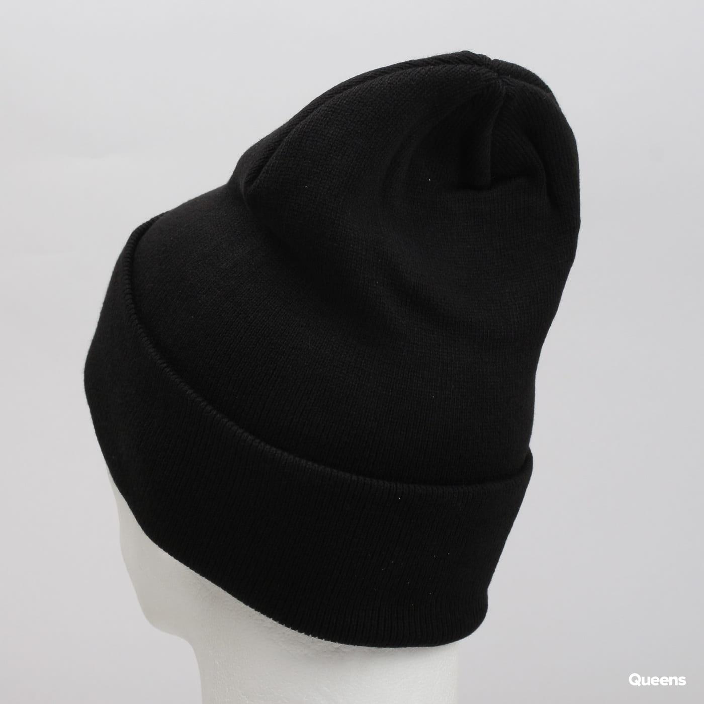 Urban Classics Leatherpatch Long Beanie čierny