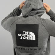 The North Face M Raglan Red Box Hoodie melange tmavě šedá
