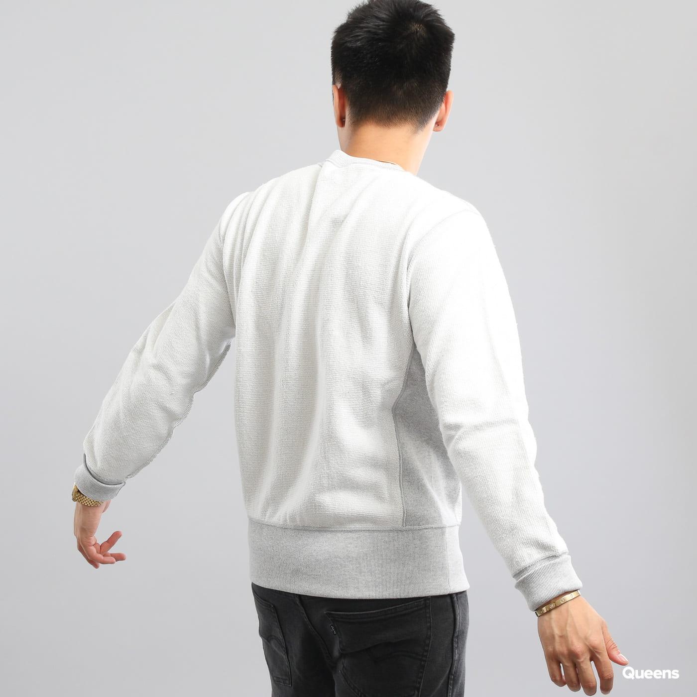 Champion Crewneck Sweatshirt weiß / melange grau