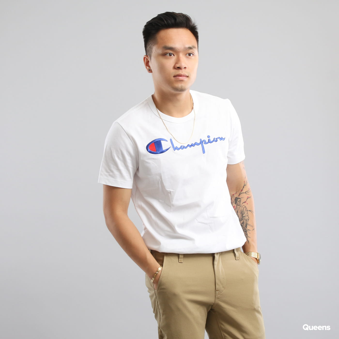 Champion Crewneck T-Shirt weiß