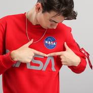 Alpha Industries NASA Reflective Sweater červená