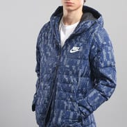 Nike M NSW Down Fill Jacket HD AOP navy / šedá