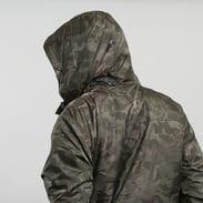 Urban Classics Padded Camo Pull Over Jacket tmavě olivová