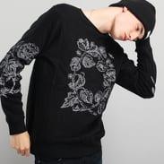 Soulland Damian Merino Wool Sweat W. Emroidery černá
