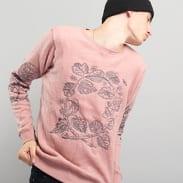 Soulland Damian Merino Wool Sweat W. Emroidery tmavě růžová