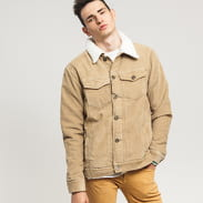 Urban Classics Sherpa Corduroy Jacket béžová
