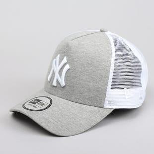 9c23b2f7f0f New Era Jersey Essential Trucker NY melange šedá   bílá   šedá