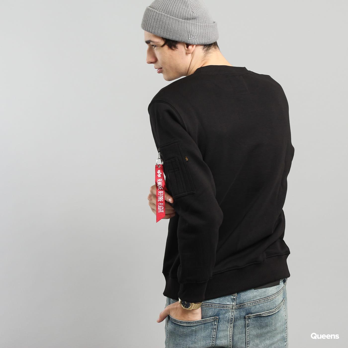 Alpha Industries NASA Reflective Sweater čierna