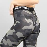 Urban Classics Ladies Camo Logo Leggings camo šedé