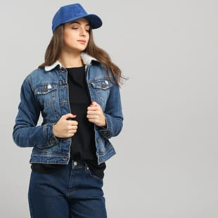 Urban Classics Ladies Sherpa Denim Jacket