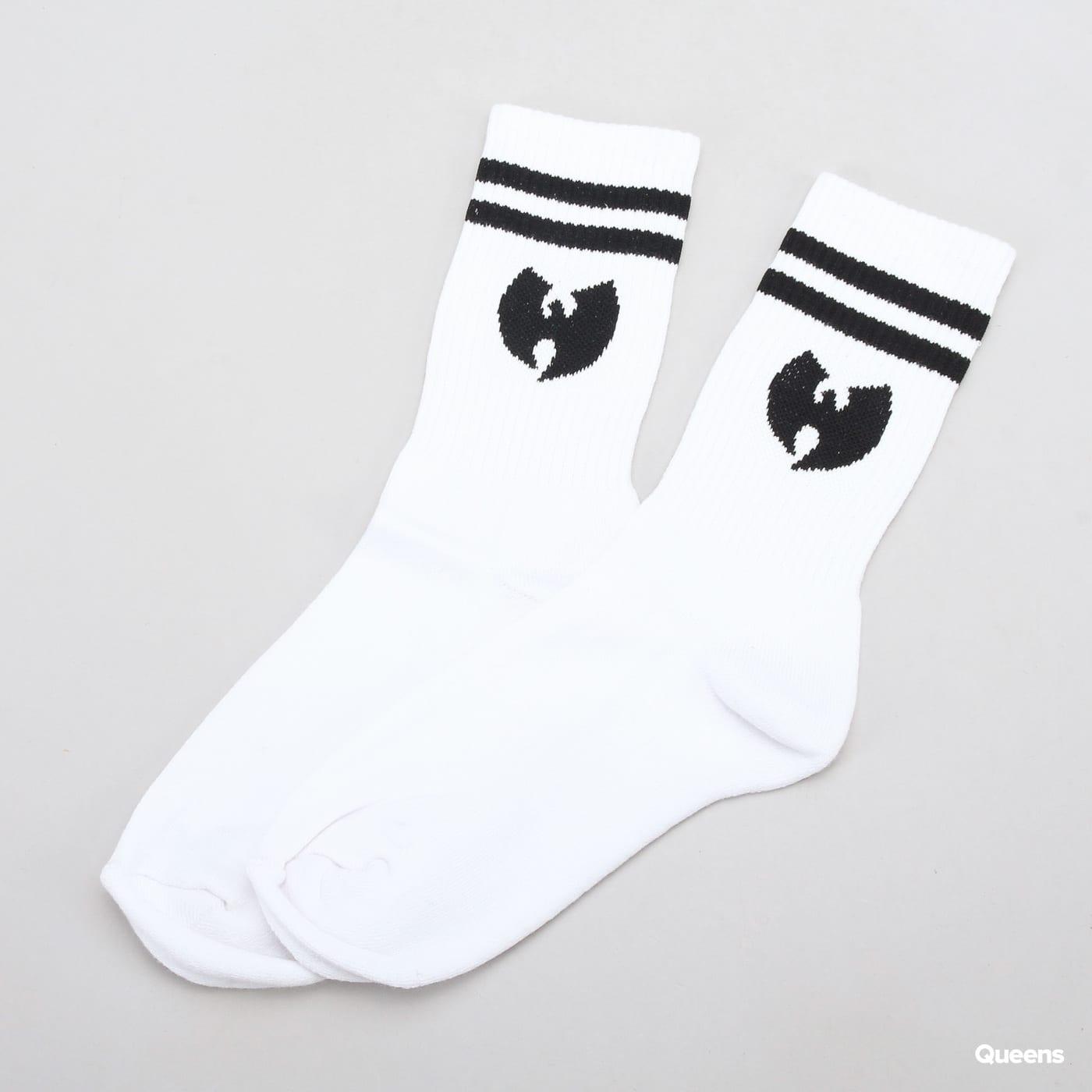 WU WEAR Logo Socks biele / čierne