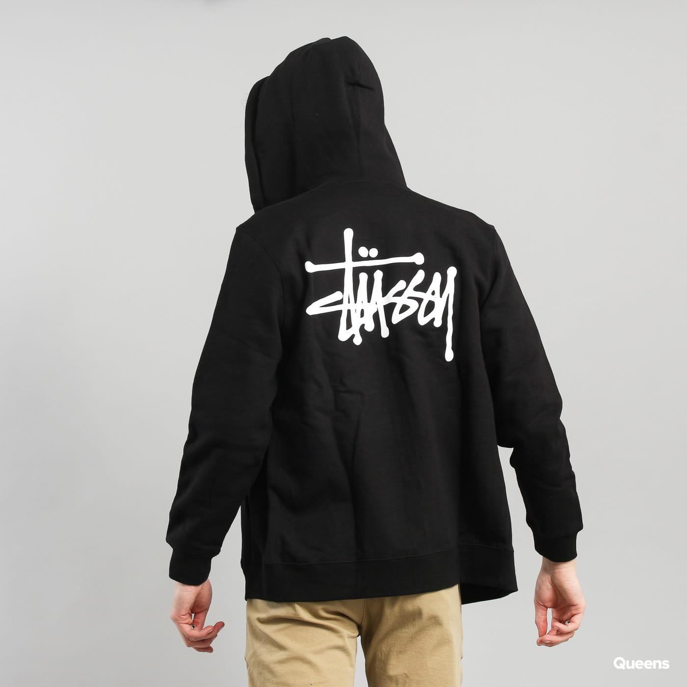 Stüssy Basic Stüssy Zip Hood schwarz
