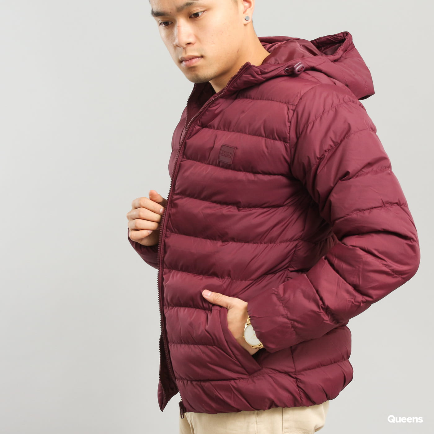 Urban Classics Basic Bubble Jacket vínová