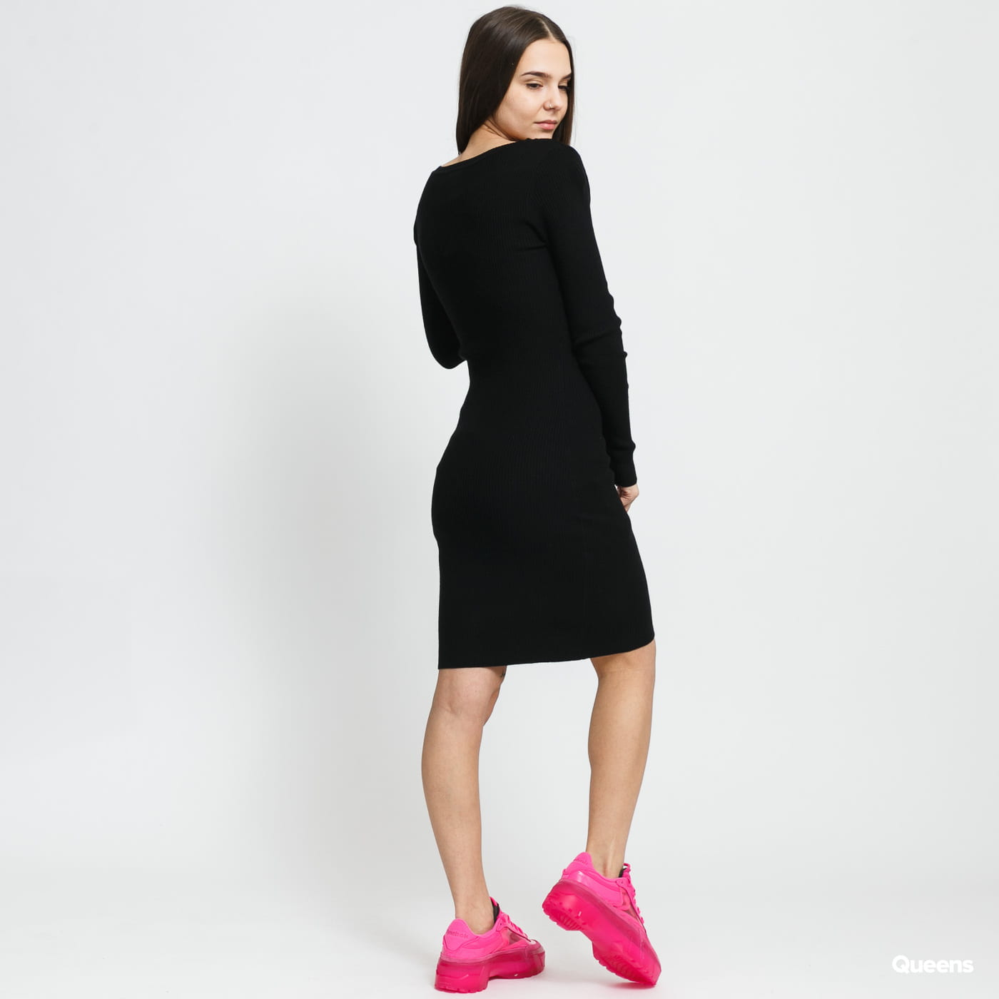 Urban Classics Ladies Cut Out Dress čierne