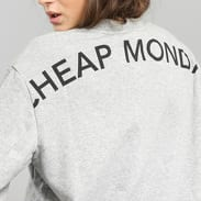 Cheap Monday Con Sweat Crew melange šedá