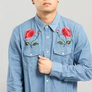 Stussy Poppy Denim Shirt light blue