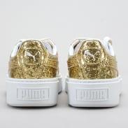 Puma Basket PlatformGlitter Wn's gold - gold
