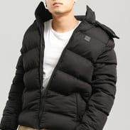 Urban Classics Hooded Boxy Puffer Jacket černá