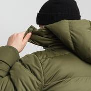 Urban Classics Hooded Boxy Puffer Jacket olivová