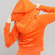 Puma Velour Fitted ZipUp Track Jacket oranžová