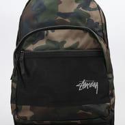 Stussy Stock Backpack camo zelený / černý