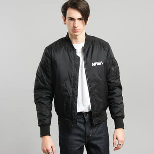 Urban Classics NASA Worm Logo Bomber Jacket