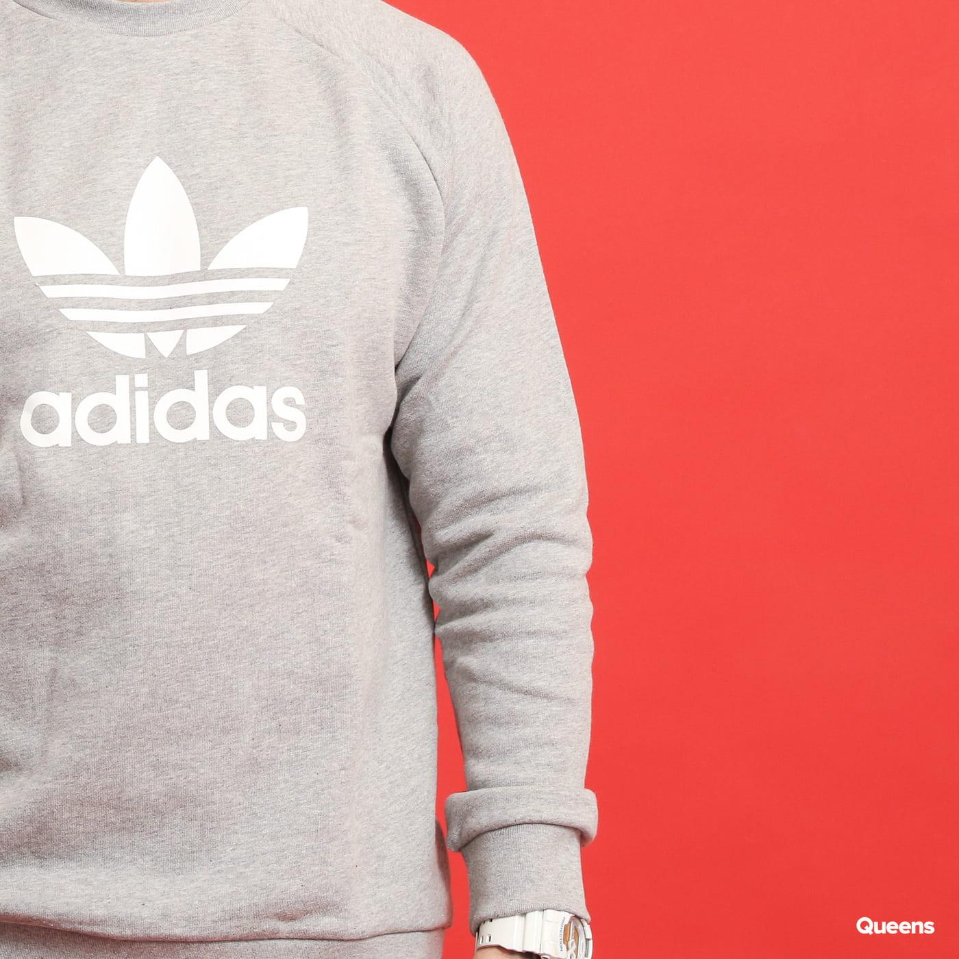 adidas Originals Trefoil Crew melange šedá