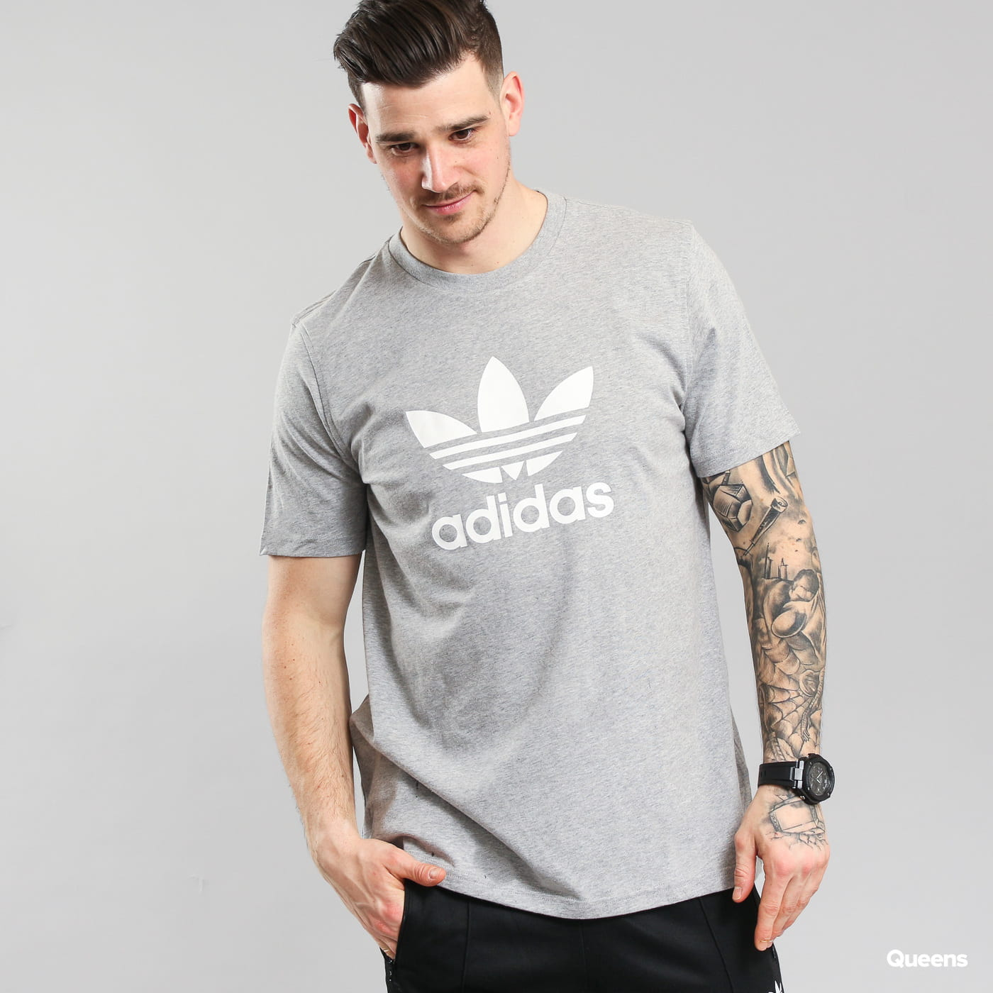 adidas Originals Trefoil T-shirt melange gray