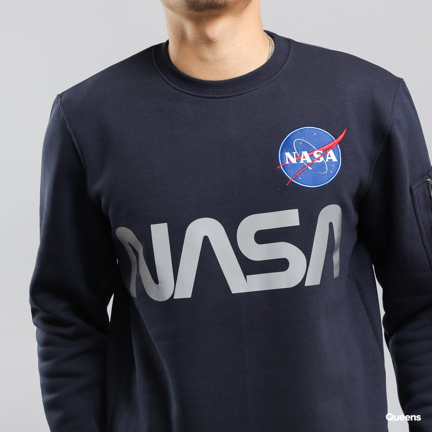 Alpha Industries NASA Reflective Sweater navy