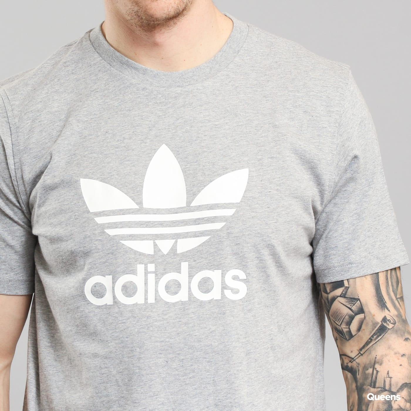 adidas Trefoil T-Shirt melange grau