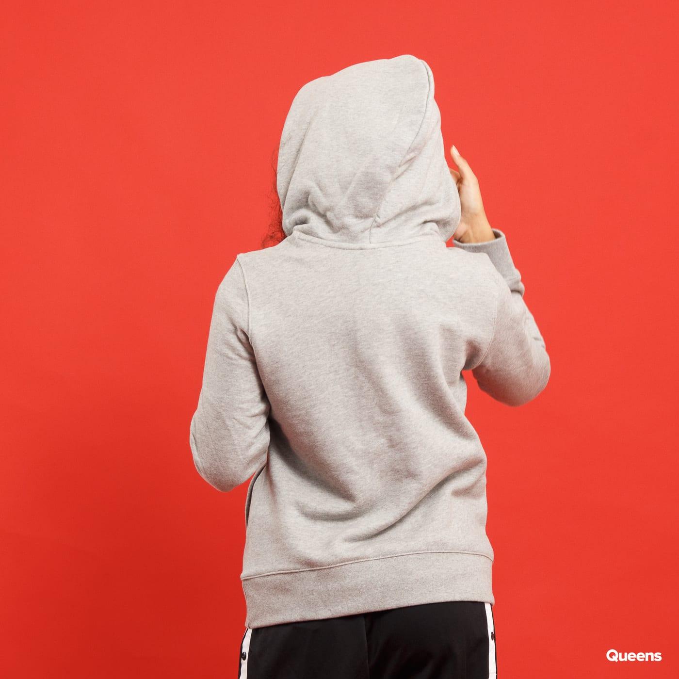 adidas Trefoil Hoodie melange šedá