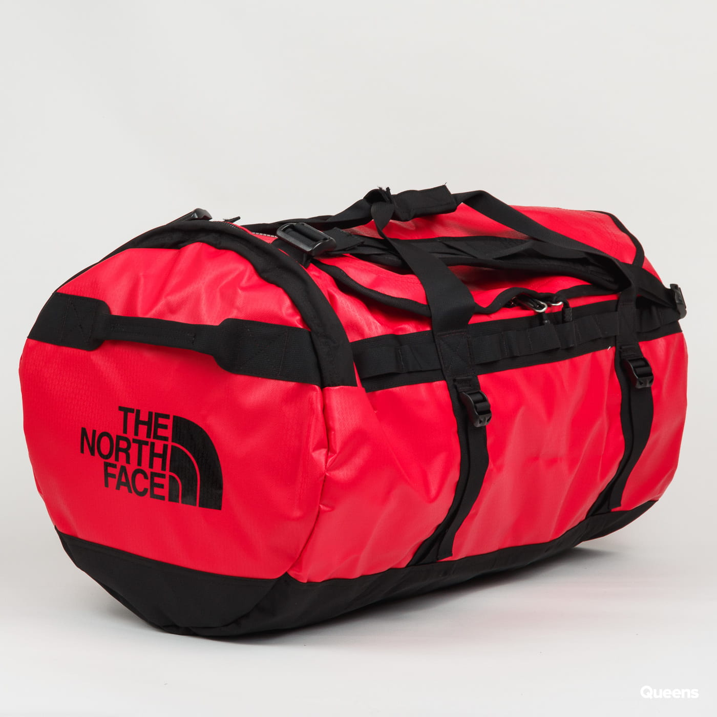 The North Face Base Camp Duffel - L červená / tmavošedá
