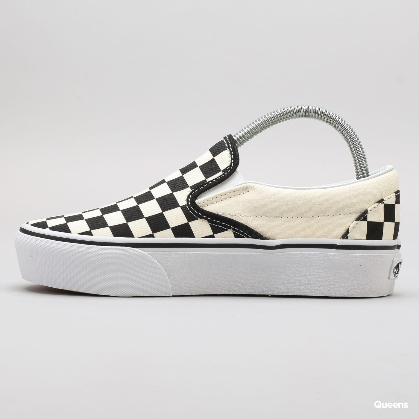 Vans Classic Slip-On Platform black & white checkerboard / white