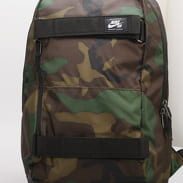 Nike NK SB Courthouse Backpack - AOP camo zelený / černý