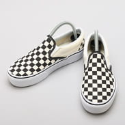 Vans Classic Slip-On Platform black & white checkerboard / white
