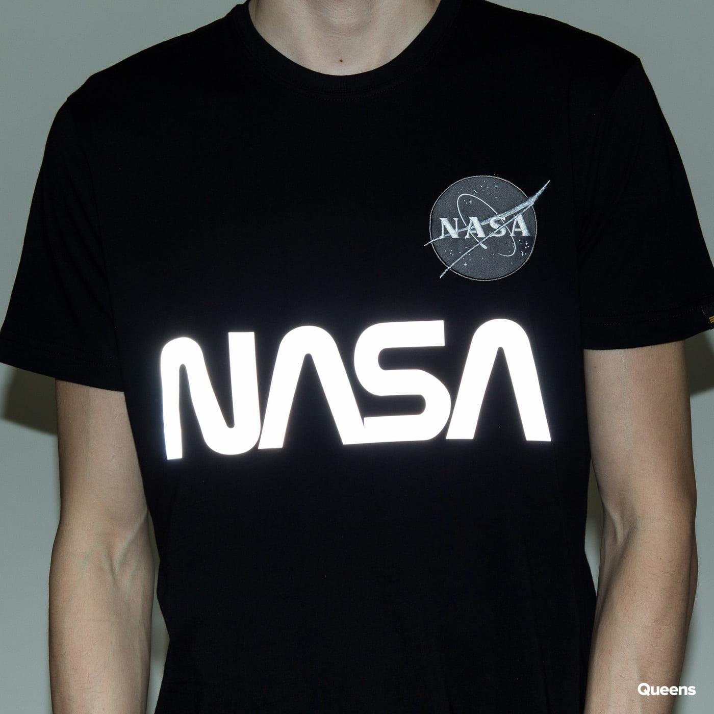 Alpha Industries NASA Reflective Tee schwarz