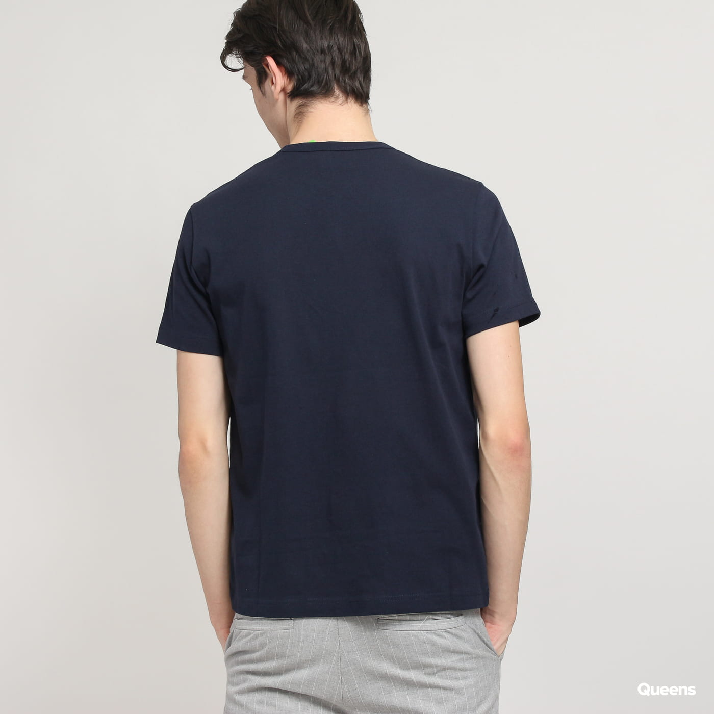 Champion Sleeve Mini Logo Crewneck Tee navy