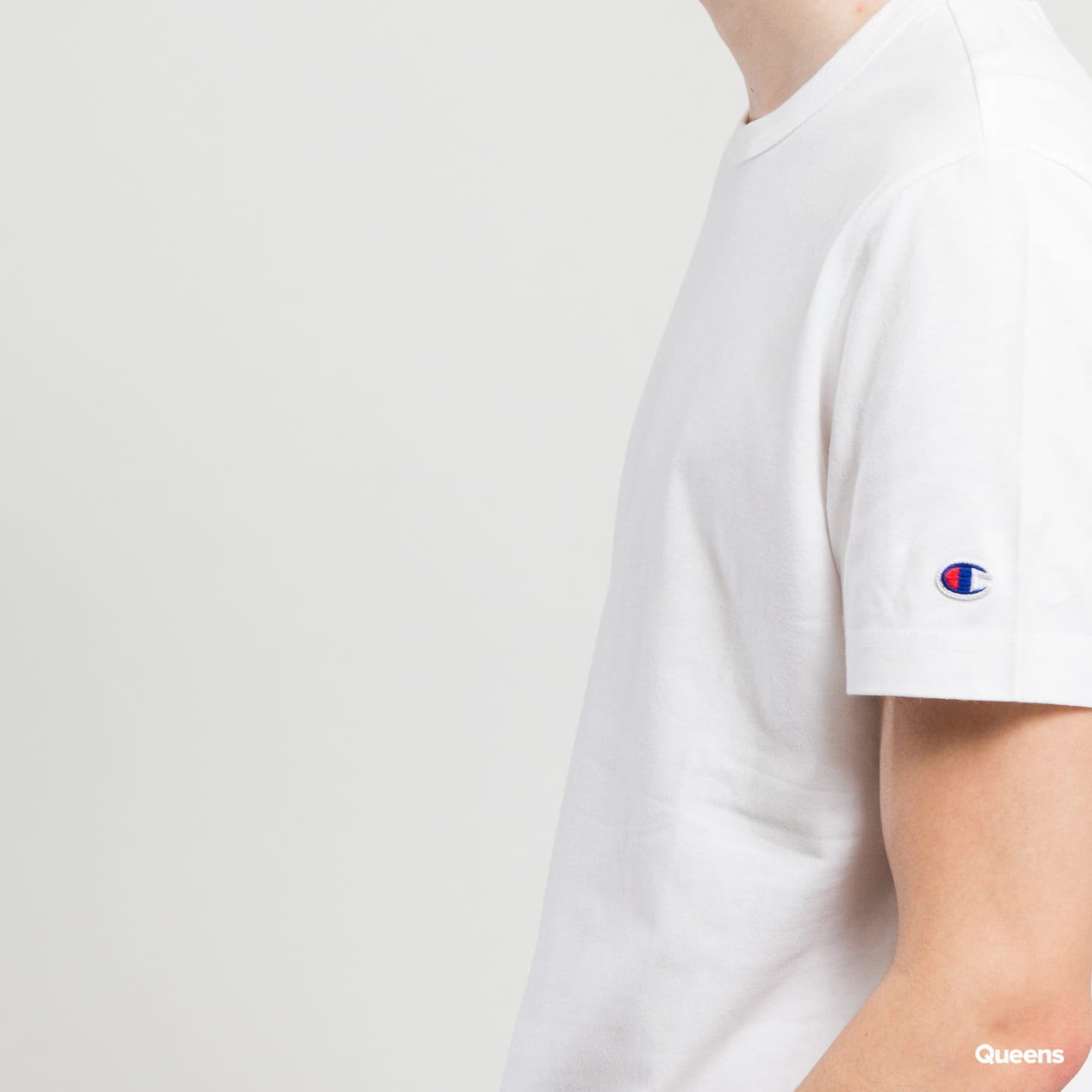 Champion Sleeve Mini Logo Crewneck Tee white