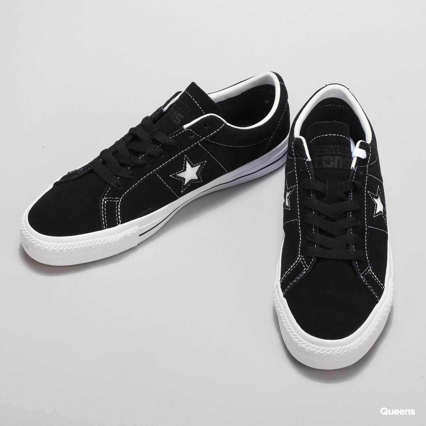 Converse One Star Pro OX black / white / white