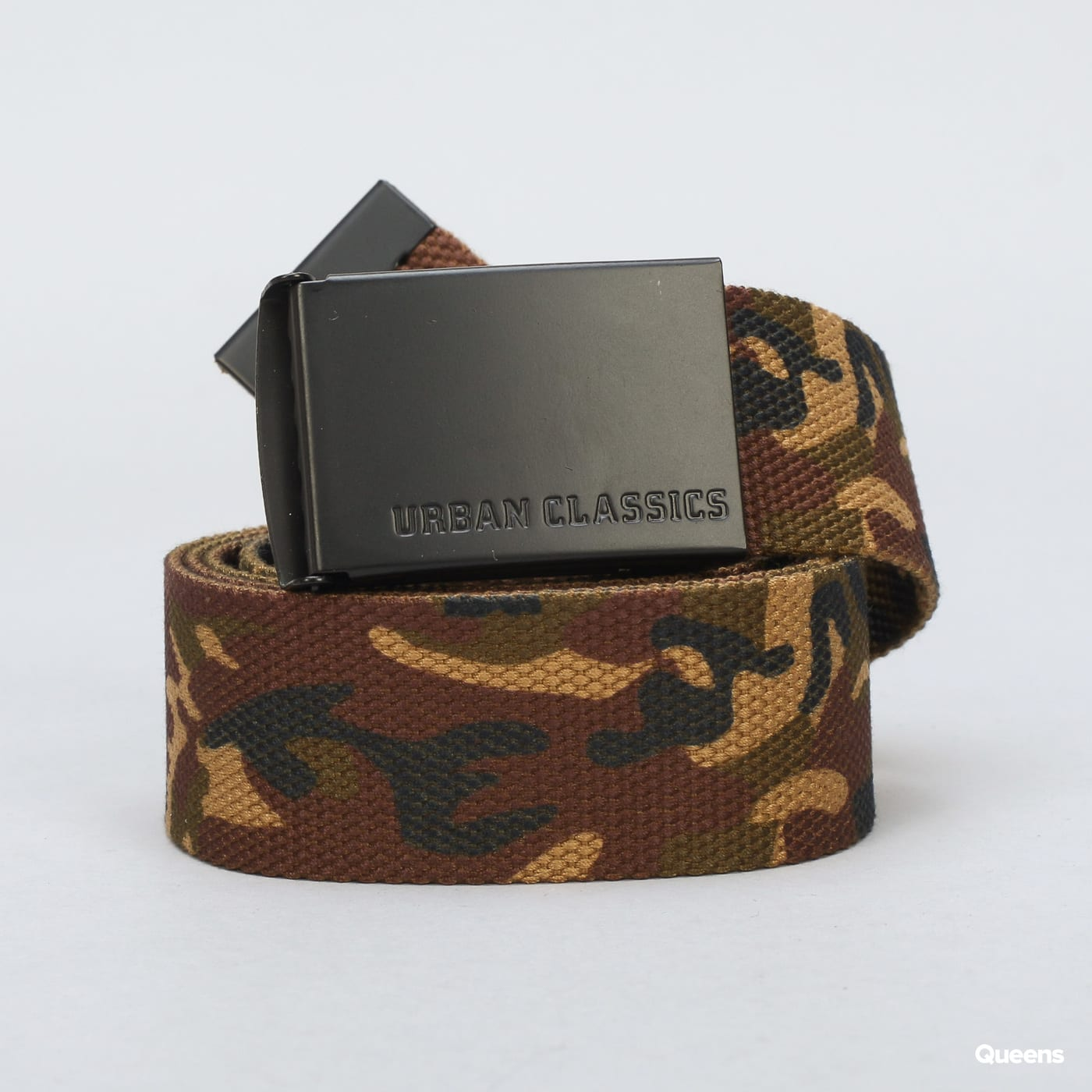 Urban Classics Canvas Belt camo zelený / béžový