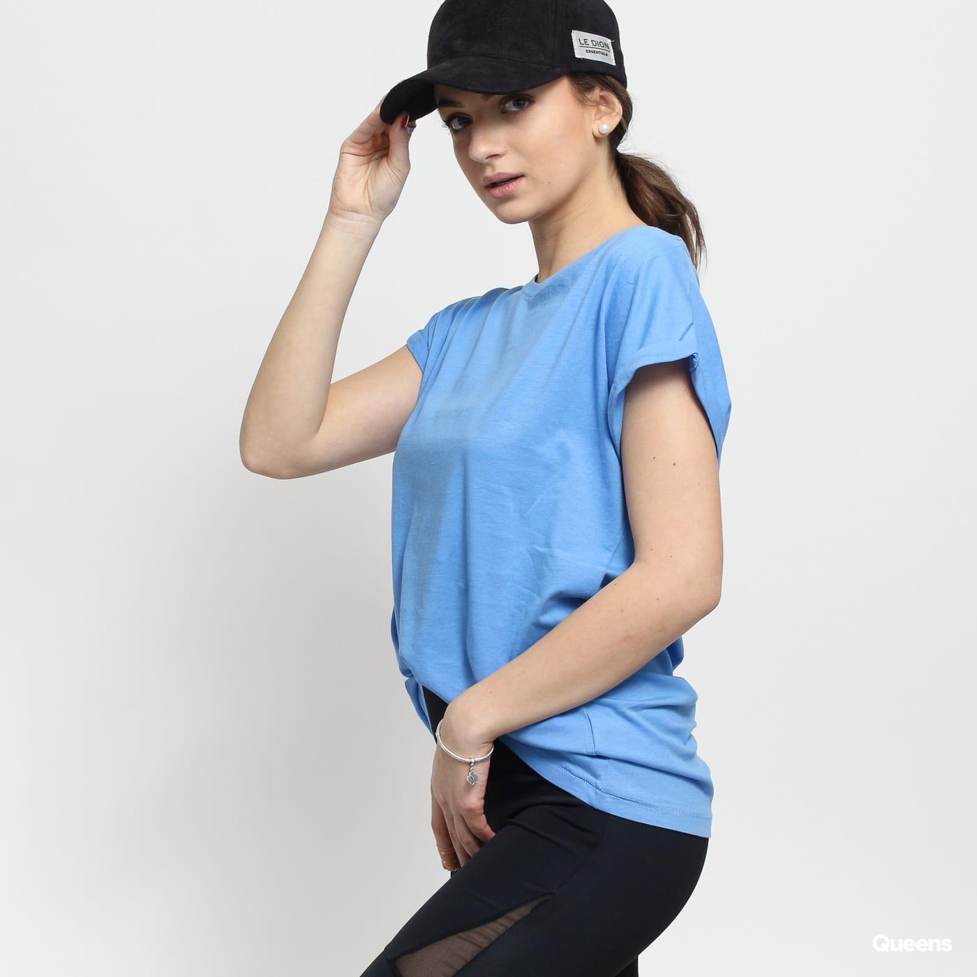Urban Classics Ladies Extended Shoulder Tee modré