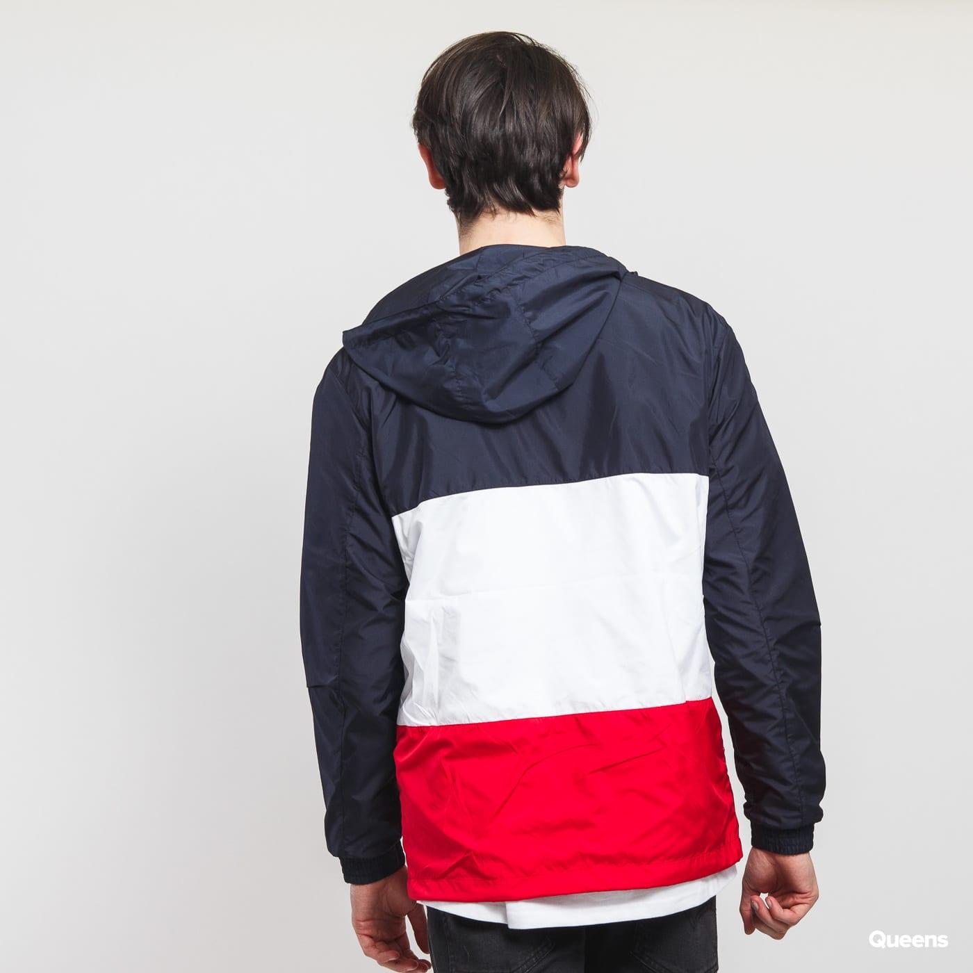 Urban Classics Color Block Pull Over Jacket navy / biela / červená