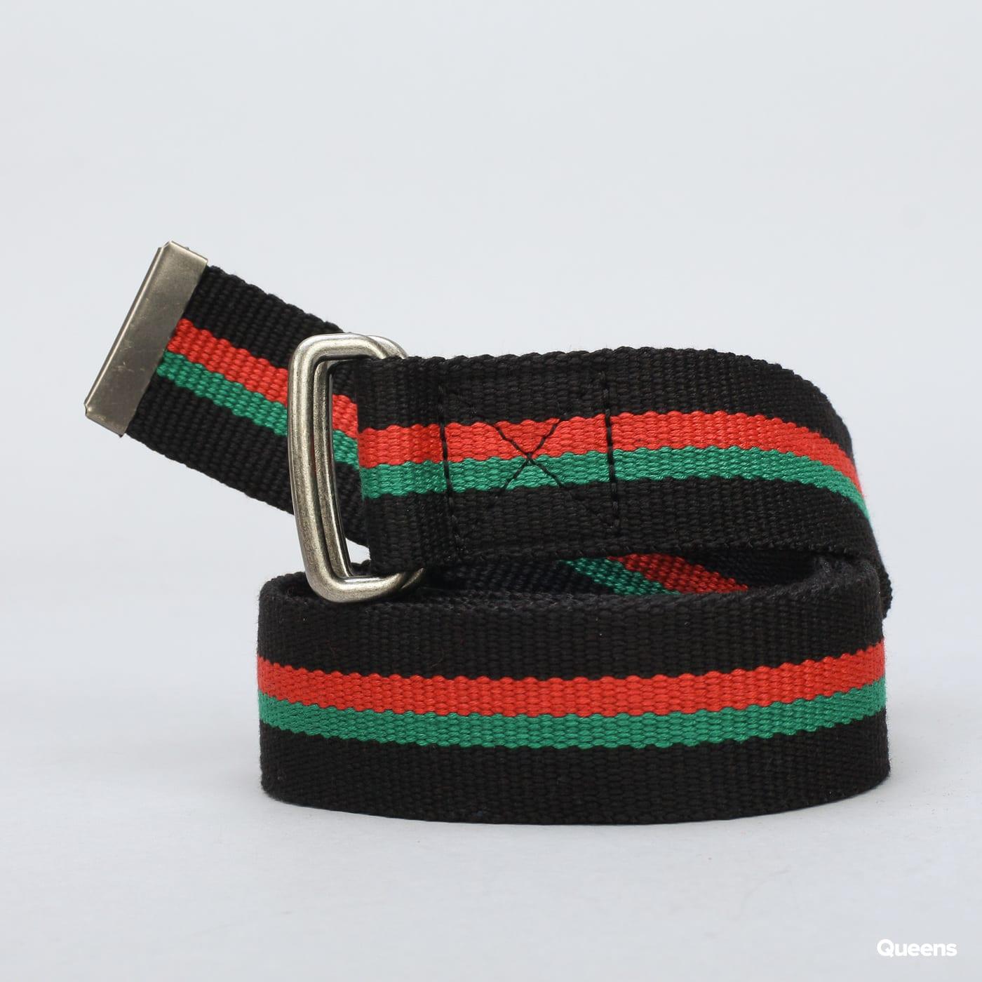 Urban Classics Stripe Belt čierny / červený / zelený