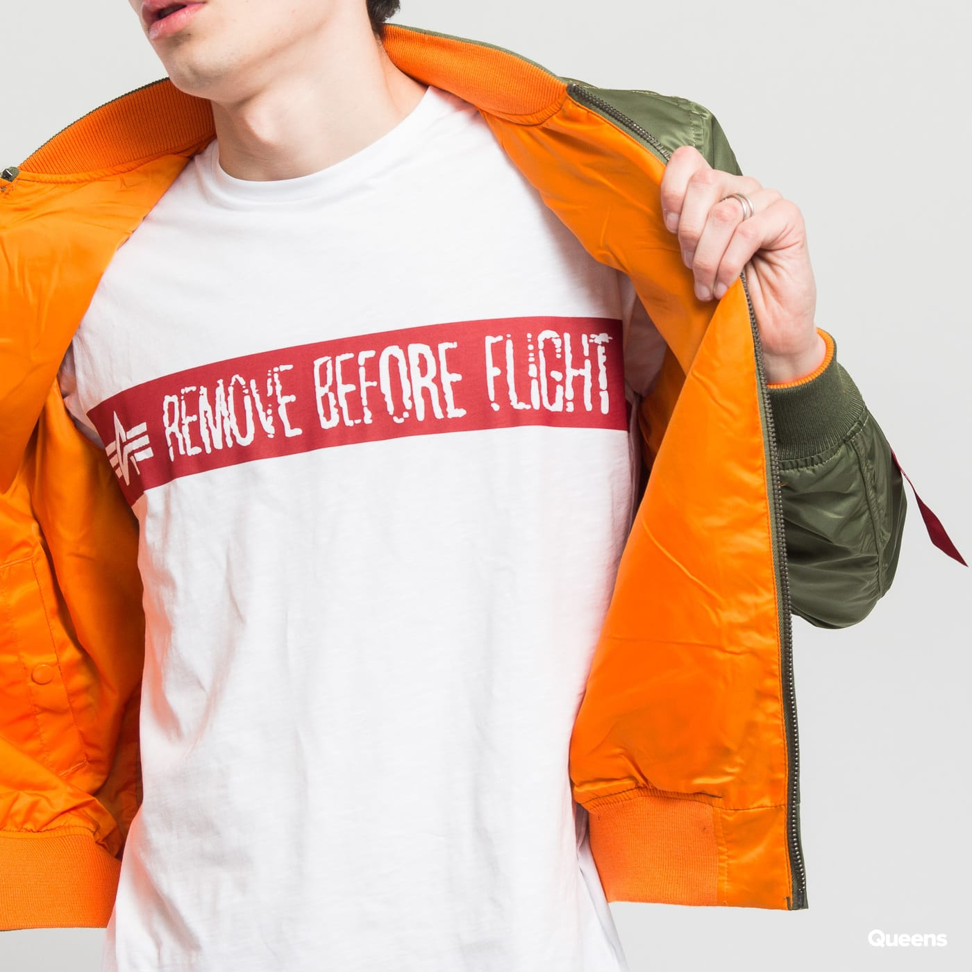 Alpha Industries MA-1 VFLW USAF oliv / orange