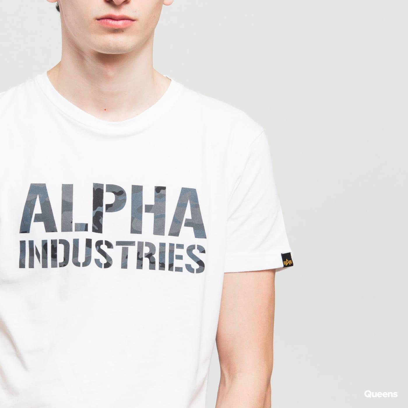 Alpha Industries Camo Print Tee weiß