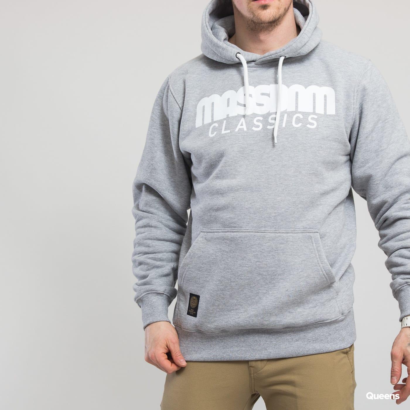 Mass DNM Classics Hoody grey melange